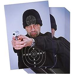 Cibles de personnages illicites style Street Thug (50 feuilles) - Cibles de tir pour armes à feu, carabines, pistolets, armes à balles BB, exercices de tir en airsoft - 17 x 25 pouces