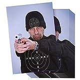 Fogli obiettivi per riprese–shooting bersagli di carta,'Bad Guy gamma bersagli in stile Street Thug per armi, fucili, pistole, fucili, BB Airsoft shooting pratica–43,2x 63,5cm