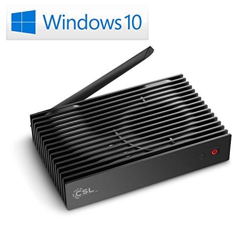 Preisvergleich Produktbild Mini PC - CSL Narrow Box Ultra HD Storage Line / 1000 GB HDD / Win 10 - Silent-PC mit Intel QuadCore CPU 2300MHz,  1000GB HDD + 32GB SSD,  4GB DDR3-RAM,  Intel HD,  AC WLAN,  USB 3.1,  HDMI,  SD,  Bluetooth,  Windows 10