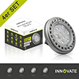 INNOVATE ES111/QRB11 ([ 4er Pack / Set ] ES111/QRB111 GU10 Spot, 12W, 60°, warmweiss, dimmbar)