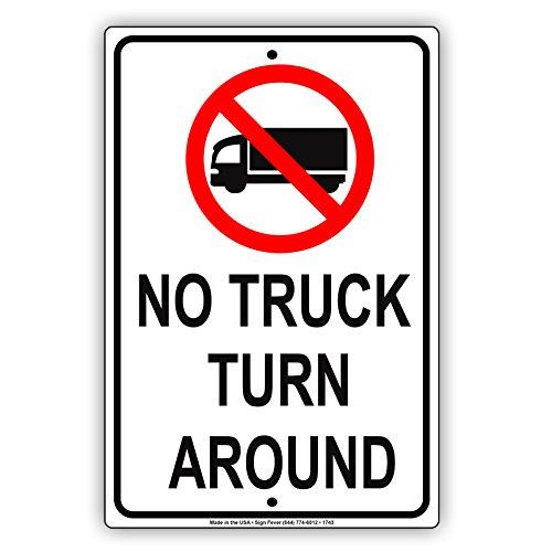 Afterprints No Truck, um Fahrzeug Einschränkung Benachrichtigung Caution Notice Aluminium Metall blechschild Teller 12