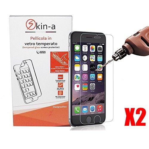 [X2Pack] skin-a ® Displayschutzfolie aus gehärtetem Glas für Apple iPhone 7 Iphone Skin Pack