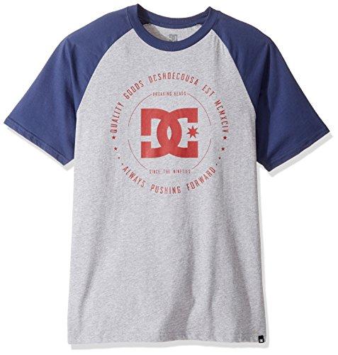 DC Mens Rebuilt 2 Raglan Short Sleeve T-Shirt Grey Heather
