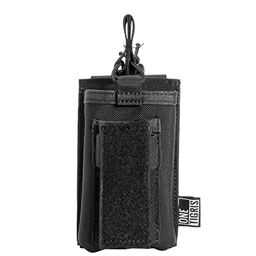 OneTigris Taktische MOLLE Magazintasche/Mag Pouch für M4/M16/AR/AK/G36/ Glock/M1911/ 92F (Schwarz Single-Gewehr/Pistole) |MEHRWEG Verpackung -