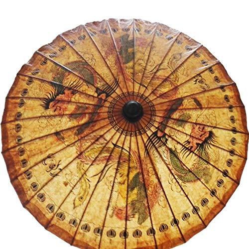 LIKEZZ Thailand Handgefertigte Ölpapier Regenschirm Alte Klassische Anhaltende Berufung Sonnenschirm Exquisite Druck Tanz Dekorative Regenschirm, 1