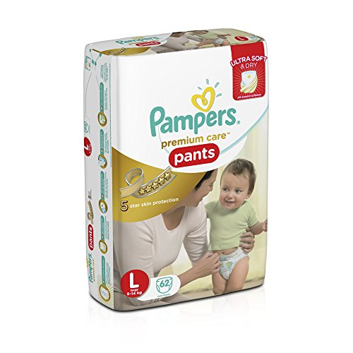 Pampers Premium Care Large Size Diaper Pants (62 Count)