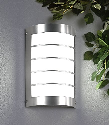 CMD 29/1BM Wall Light Brushed Stainless Steel with Motion Sensor