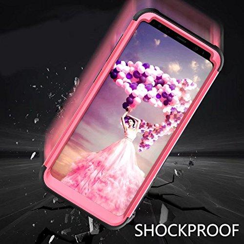 YHUISEN Galaxy S8 Fall, Stoßdämpfung Drei-Schicht-Rüstung Defender [Heavy Duty] Robuste Hybrid-Schutzhülle für Samsung Galaxy S8 ( Color : Black ) Rose Black