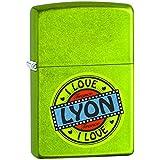 Zippo 60001903 I Love Lyon Briquet Laiton Lurid 3,5 x 1 x 5,5 cm