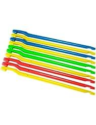 Sams Fishing Lot de 10 dégorgeoirs en plastique Multicolore