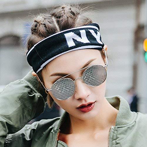 SCJ Han Ban Chao belebt alte Bräuche Wieder Original Nacht Brise Kreis Sonnenbrille weibliches rundes Gesicht Straßen klatschen in einen schwarzen Sonnenspiegel, um Teil des Lichts zu Sein, um U
