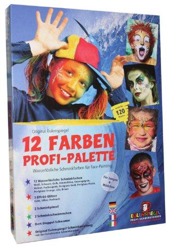 Eulenspiegel Profischmink-Palette, 12 Farben