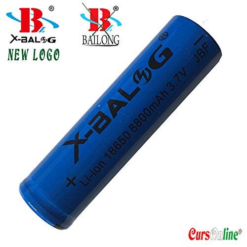 Galleria fotografica CursOnline® Pile X-Balog Nuovo Logo Bailong - 2 Batterie ricaricabili Alta Potenza X-Balog JBF 18650 8800mAh 3,7 V Li-ion per lampade torcia CoL-568-15