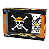 One Piece - Geldbörse + Schlüsselanhänger - Luffy Ruffy Skull Logo