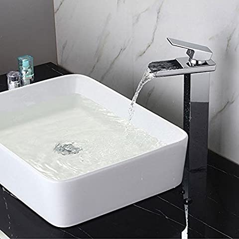 Waterfall Basin Faucet Continental Copper Hot & Cold Basin Basin Faucet Washbasin Basin Faucet , high