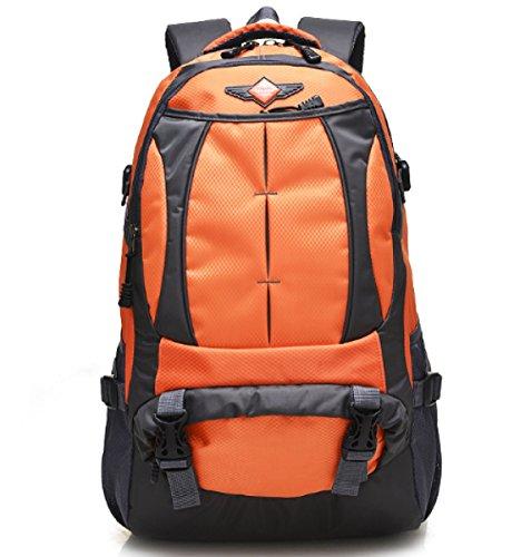 BULAGE Taschen Rucksäcke Reisen Mittelschüler Schultern Taschen Männer Und Frauen Im Freien Sport Bergsteigen Reisen Computer Wandern Orange