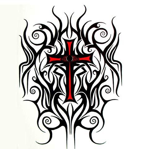 Ruofengpuzi croce eye tattoo flash temporary tattoo art sticker corpo 21 * 15cm impermeabile autoscatto tatuaggio di falsificazione autoadesivo del tatuaggio