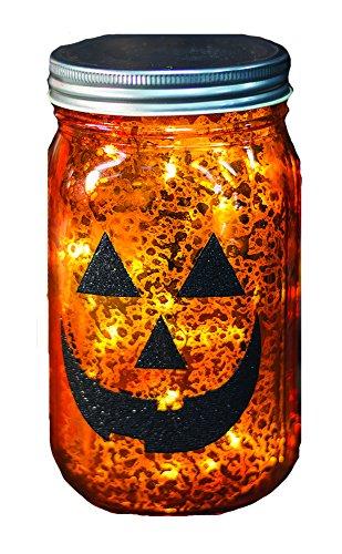 CWI Tapetenbordüre Geschenke 16,5cm Jack O Laterne beleuchtet Mason Jar