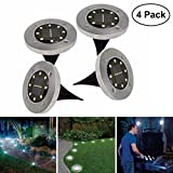Best Landscape Lights - 8 LED Solar Garden Light, Wivarra Waterproof Solar Review