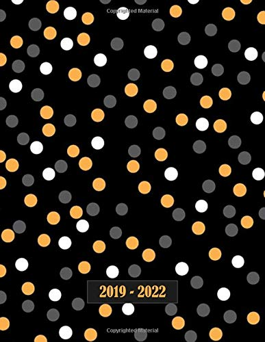 "2019 - 2022: Four - Year Monthly Planner: (Size : 8.5"" x 11""), 48 - Month Calendar Schedule Organizer and Hand Lettering Notebook (January 2019 - December 2022), Notes and Phone book, U.S. Holidays ( Cover: Polka Dots)"