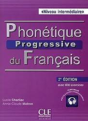 Phonetique progressive 2e edition: Livre intermediaire + CD (A2/B1)