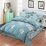 Huichao Baumwoll-24-teilige Baumwollbettverpackung 1,8m Bettdecke Deckel Blätter dreiteilig,Green