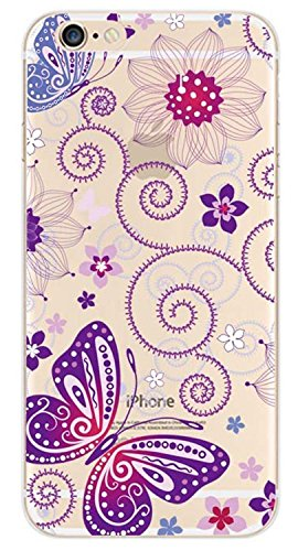 For iPhone 6 / iPhone 6s Case,iphone 6S case for girls,Never stop Exploring® Ultra Slim Soft TPU Case Cover Protective Bumper for Apple iPhone 6 / iPhone 6s 4.7 Inch Flower Painted