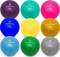 Mini Pilates Ball »Balle« 18cm / 23cm / 28cm Gymnastikball für Beckenübungen, Stärkung der Bauchmuskulatur und partielle Massage. Erhältlich in aktuellen Trendfarben : blau, türkis, silber, violett, grün, gelb, orange und himmelblau