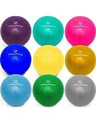 Mini Pilates Ball »Balle« 18cm / 23cm / 28cm / 33cm Gymnastikball für Beckenübungen, Stärkung der Bauchmuskulatur und partielle Massage. Erhältlich in aktuellen Trendfarben : blau, türkis, silber, violett, grün, gelb, orange und himmelblau