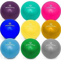 Mini pelota de pilates »Balle« 18cm / 23cm / 28cm / Pelota para ejercicios de gimnasia / disponible en varios colores y tamaños: amarillo / 23cm