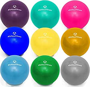 Mini Pilates Ball »Balle« 18cm / 23cm / 28cm Gymnastikball für Beckenübungen, Stärkung der Bauchmuskulatur und partielle Massage. gelb / 23cm
