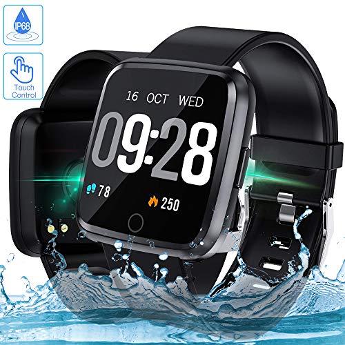 [Upgrade Modell]Zagzog Smartwatch Wasserdicht Bluetooth Gesundheits & Fitness Tracker mit Kamera Herzfrequenzmessung Schlafmonitor Kalorienzähler erfassen SMS Whatsapp Note Kompatibel für IOS Android