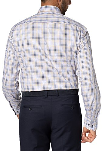 Eterna long sleeve Shirt COMFORT FIT Twill checked lilla/blu/giallo