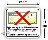 """Sticker Autocollant """" Chèque Refusé """""""