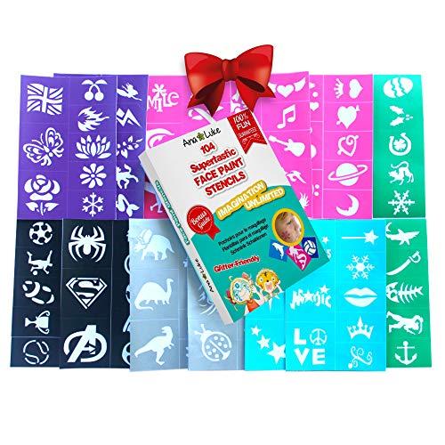 Einfach Zu Machen Marvel Superheld Kostüm - Schminkschablonenset 104 Schablonen - Mädchen Jungen