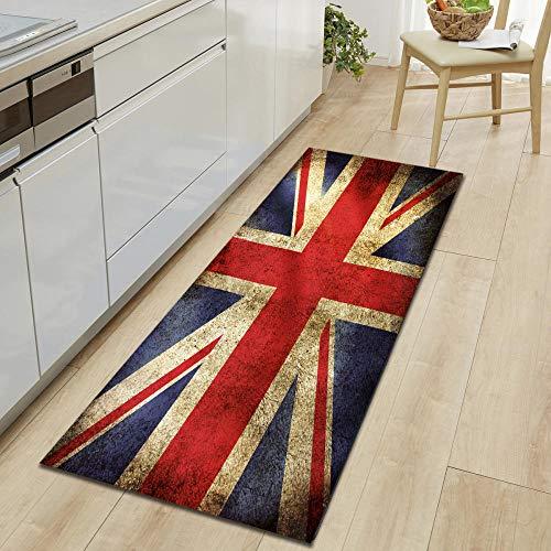 rutschfeste Slip,Läufer Teppiche Für Wäscherei Zimmer Schlafzimmer Küche Wohnzimmer Diele,Modernes Drucken Polyester,Maschinenwäsche Lange Teppiche,Britische Flagge