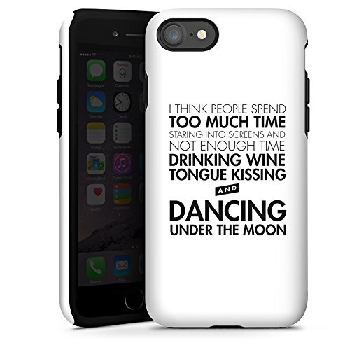 Apple iPhone X Silikon Hülle Case Schutzhülle Liebe Sprüche Tanzen Tough Case glänzend