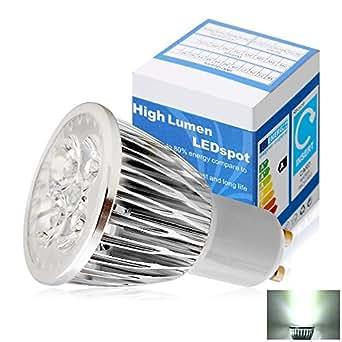 Elinkume 20X GU10 Ampoule LED 4W Spot LED High Power LED Lampes GU10 Bulb Basse Consommation 280-300LM Blanc Froid AC190-240V
