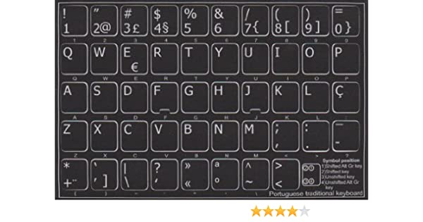 Portuguese Keyboard Stickers Amazon Computers Accessories
