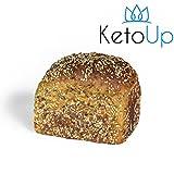 KetoUp: Frisches Low Carb Mehrkornbrot | Bestens geeignet für die ketogene und Low Carb Ernährung | Sportnahrung | Gesunde Ernährung | enthält maximal 3% Kohlenhydrate - 550g | versandkostenfreie Lieferung innerhalb Deutschlands ab einem Bestellwert in Höhe von 20€