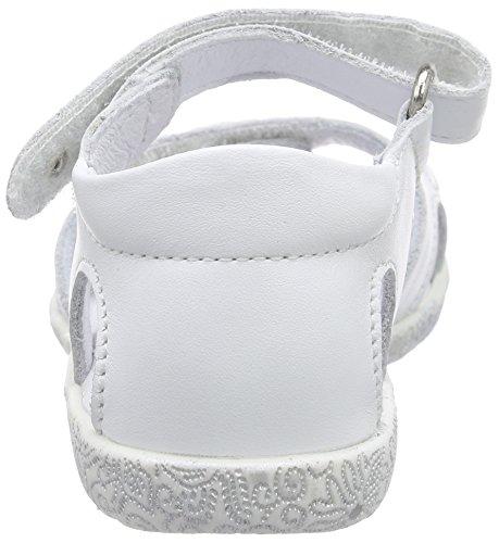 Richter Kinderschuhe Sissi S, Sandales premiers pas bébé fille Blanc - Weiß (panna  0400)