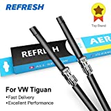 RAISSER® Refresh Windscreen Wiper Blades for Volkswagen VW Tiguan Mk1 / Mk2 Fit Push Button Arms Model Year from 2007 to 2018