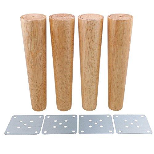 25cm Altura Madera Color Cónico Confiable Muebles de madera Armarios Patas Sofá...