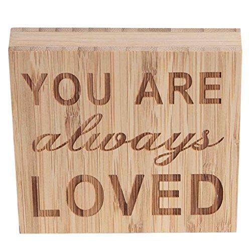 Chunyang Brief Dekorative Brett Tischdekorationen Zeichen Plaque Holz Stehendes Plank Panel Startseite anzeigen Decor (Anzeige Home Akzente)