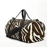 Yesliy Animal Print Zebra in Winter Brown and Beige Sporttasche Reisetasche Handgepäck für Frauen...