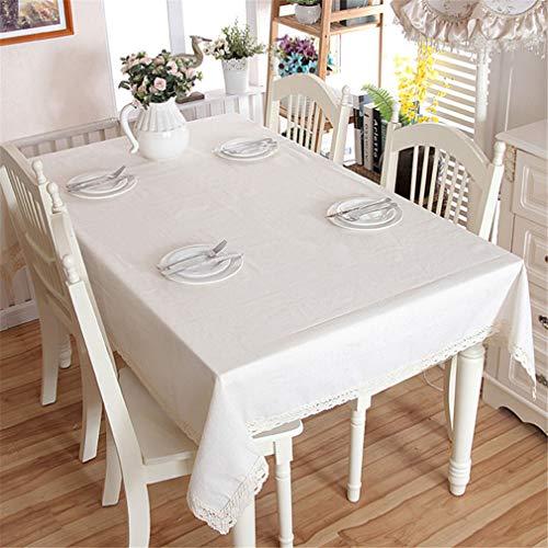 Dinar Nappe en Coton Moderne Nappe Nappe en Dentelle Blanche Nappe Lavable Mariage Banquet Nappe Black Striped 140cm X 200cm