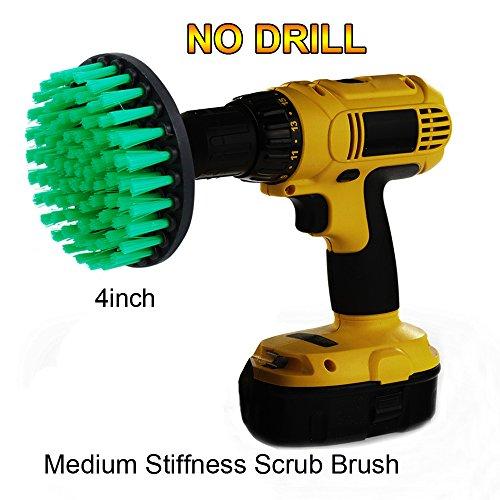 OxoxO HSS-Bürste - 4Inch Medium Steifigkeit Power Schrubben Bürste Bohraufsatz für Reinigung Duschen, Badewannen, Badezimmer, Fliesen, Mörtel, Teppich, Reifen, Boote