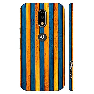 Enthopia Designer Hardshell Case Yellow To Blue Back Cover for Motorola Moto G4, Moto G4 Plus