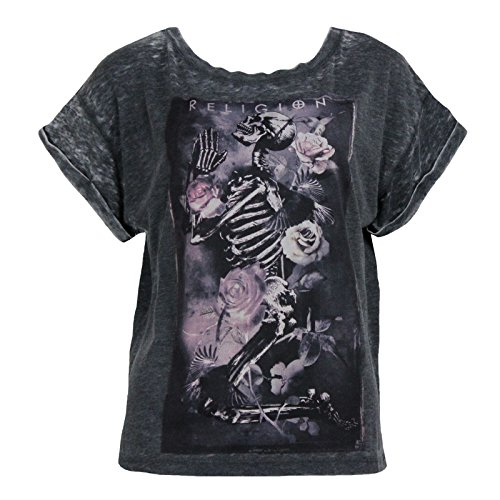 Religion Clothing Damen Shirt Labyrinth Charcoal