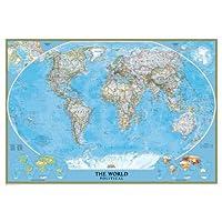 Stickasticker Wall Tattoo World Map 178x 121cm